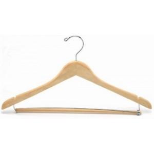 suit hanger w wooden locking pants bar