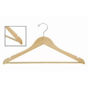 Space Saver Smart Suit Hanger w/ Vinyl Covered Pant Bar