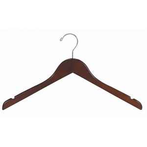 "17"" Space Saver Walnut/Chrome Hanger"