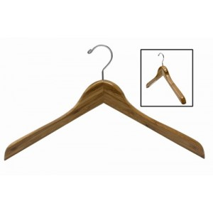 Earth Friendly Dark Bamboo Curved Luxury Shirt/Coat Hanger