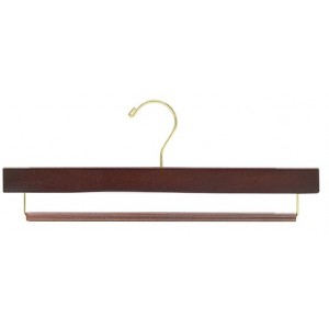 "15"" Slip-Defense Walnut Pants Hanger"