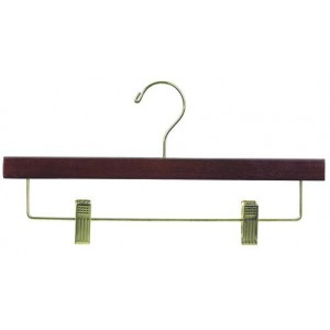 "14"" So Secure Walnut  Pant & Skirt Hanger"