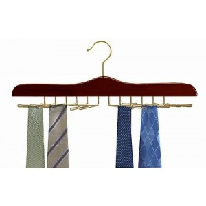 Specialty Tie Hanger - Walnut & Brass