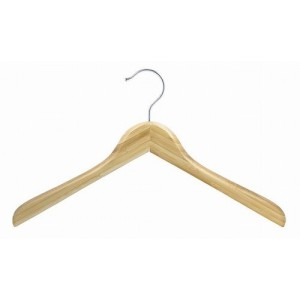 "17"" Earth Friendly Bamboo Curved Luxury Shirt/Coat Hanger"