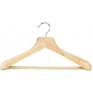 "18"" Ultimate Wide Suit Hanger w/ Vinyl Covered Pant Bar"
