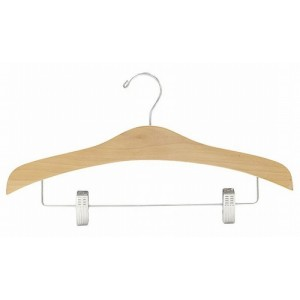 Space Saver Curves Outfit Hanger w/ Clips