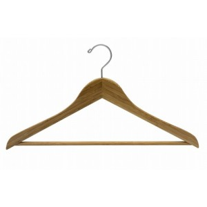 Earth Friendly Dark Bamboo Space Saver Smart Suit Hanger