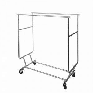 Folding Double Rolling Garment Rack