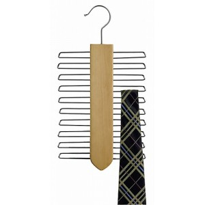 Space Saver Wooden Tie Organizer
