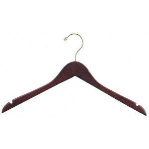 "17"" Space Saver Walnut Hanger"