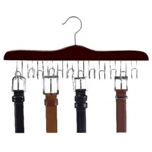 The Ultimate Walnut/Chrome Wooden Belt Hanger